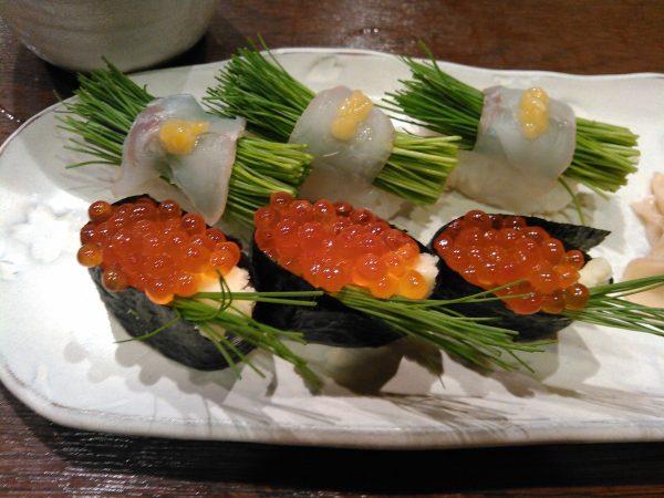 姫ねぎのお寿司サムネイル